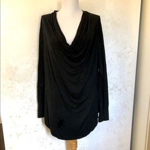 Banana Republic Black Cowl Neck Long Sleeve Top